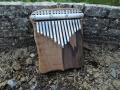 Kalimba z ořechu, pro koncovku D-dur, 15 tónů